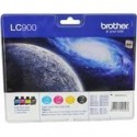 PACK 4 CARTOUCHES JET D'ENCRE ORIGINAL BROTHER LC900 CMJN