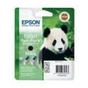 PACK 2 CARTOUCHES JET D'ENCRE ORIGINAL EPSON T0501 NOIR 2x15ML