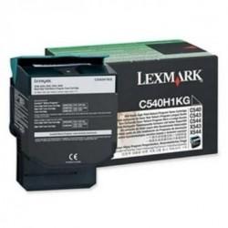 TONER LASER ORIGINAL LEXMARK C540H1KG C540/X543 NOIR 2500 PAGES