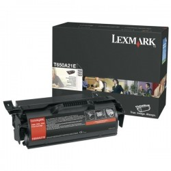TONER LASER ORIGINAL LEXMARK T650A21E T650/652/654 NOIR 7000 PAGES