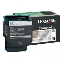TONER LASER ORIGINAL LEXMARK C544X1KG C544/X544 NOIR 6000 PAGES