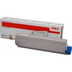 TONER LASER ORIGINAL OKI C831/841 - 44844505 JAUNE 10000 PAGES